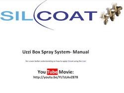 Uzzi Box Spray System manual